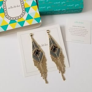 Stella & Dot Aiyana Fringe Chandelier Earrings